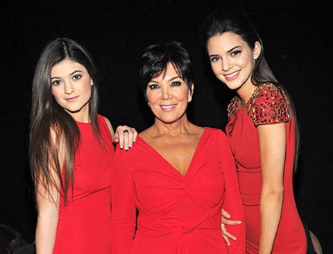 Kris with Kendall and Kylie