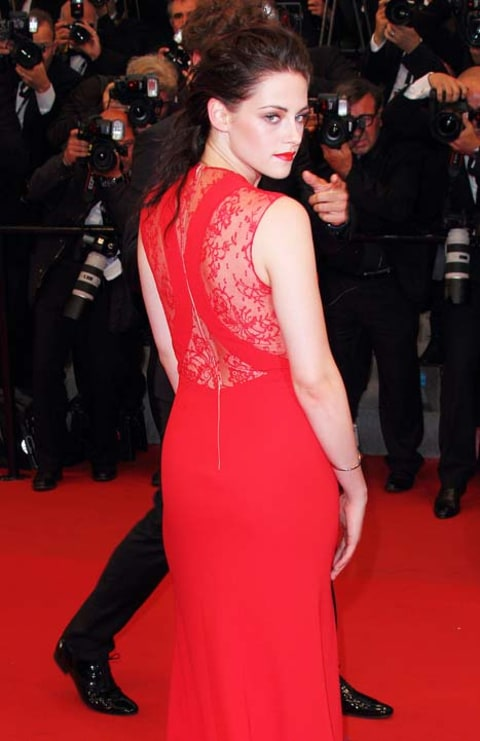 Kristen Stewart back of dress