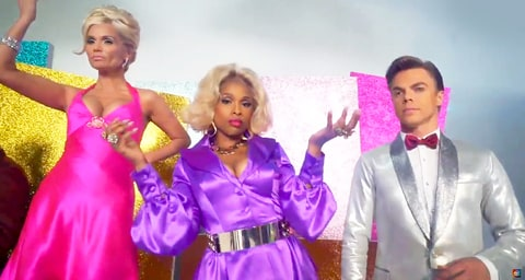 Kristin Chenoweth, Jennifer Hudson and Derek Hough
