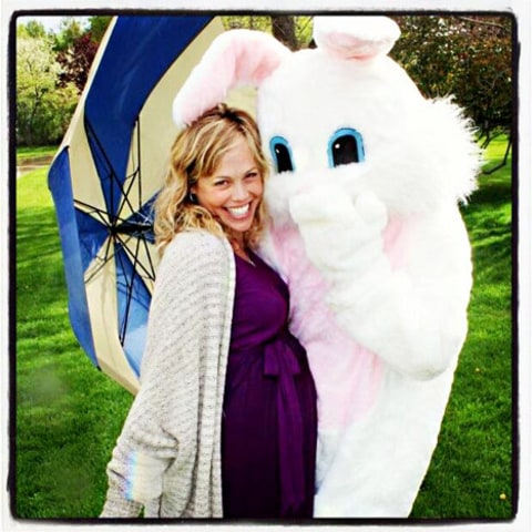 kristin richardson and easter bunny