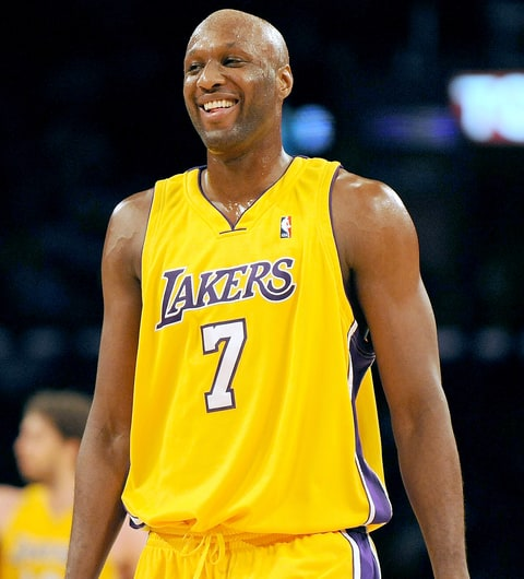 Lamar Odum #7 of the Los Angeles Lakers laughs after a timeout call against the New Orleans Hornets during the second half at Staples Center on December 1, 2009 in Los Angeles, California.