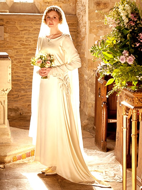 celebrity style news downton abbey season wedding characters dress