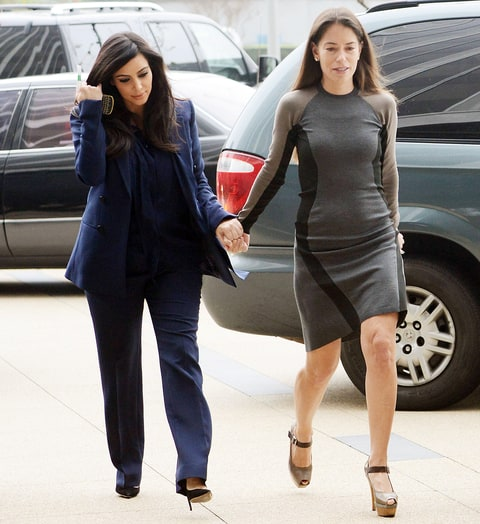 Kim Kardashian and Laura Wasser
