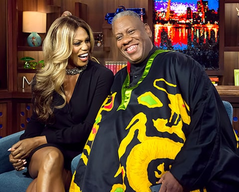 Laverne Cox and Andre Leon Talley - What What Happens Live