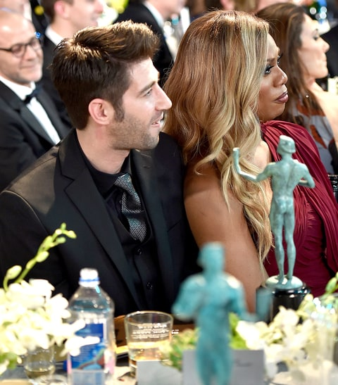 Laverne Cox in the audience during The 22nd Annual Screen Actors Guild Awards.