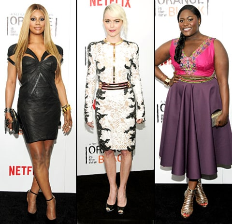 OITNB Premiere - Laverne Cox, Taryn Manning and Danielle Brooks