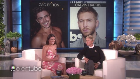 Lea Michele swoons over Zac Efron