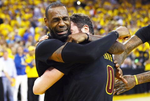 LeBron James crying