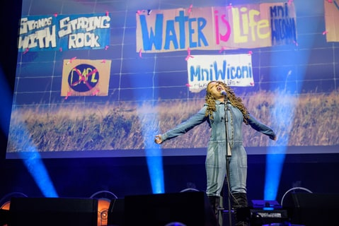 Ledisi performs as part of the Stand With Standing Rock charity concert in Washington, D.C.