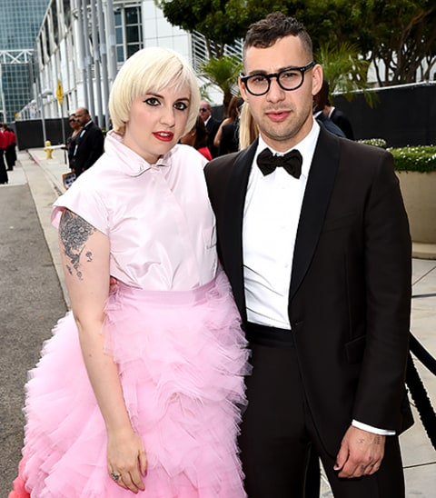 Lena Dunham and Jack at the Emmys
