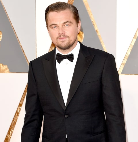 Leonardo DiCaprio attends the 88th annual Academy Awards.