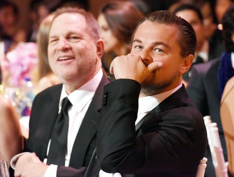 Harvey Weinstein and Leonardo DiCaprio