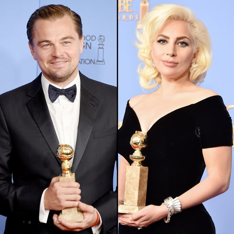 Leonardo DiCaprio and Lady Gaga
