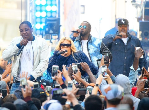 Lil Kim,Puff Daddy,The Lox are seen Performing At The Today Show on May 20, 2016