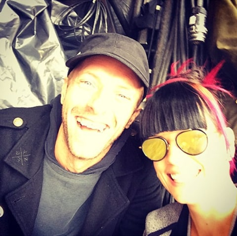 Lily Allen with Chris Martin