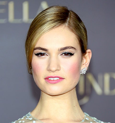 Lily James Is Real Life Cinderella At Premiere Red Carpet