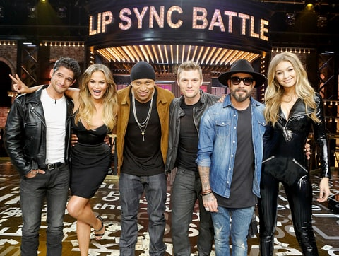 Tyler Posey, Chrissy Teigen, LL Cool J, Nick Carter, A.J. McLean, and Gigi Hadid