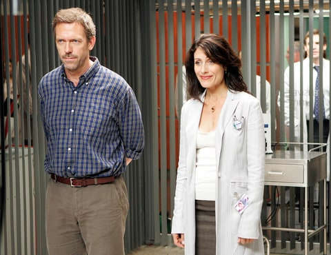 Hugh Laurie and Lisa Edelstein