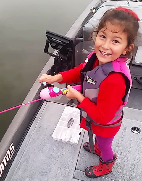 girl fishing