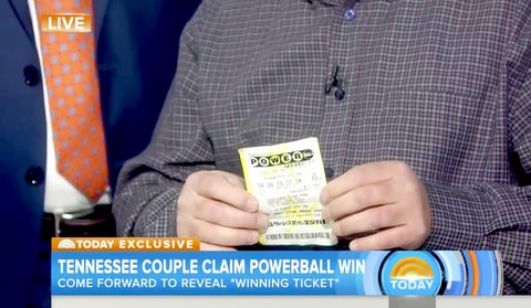 The alleged winning Powerball ticket.