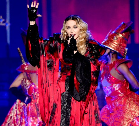 Madonna performs onstage during her Rebel Heart Tour opener at the Bell Centre on Sept. 9, 2015, in Montreal, Canada.