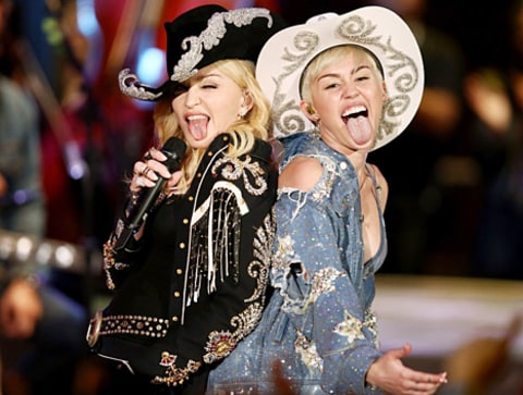 madonna and miley