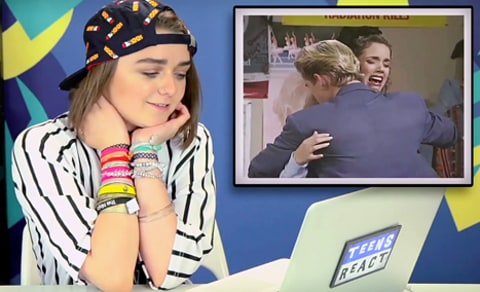 maisie williams watches saved by the bell