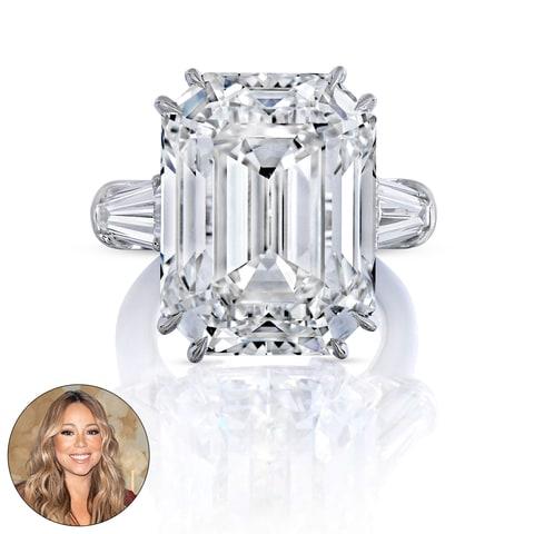 see mariah carey 39 s 35 carat diamond engagement ring photos us weekly. Black Bedroom Furniture Sets. Home Design Ideas