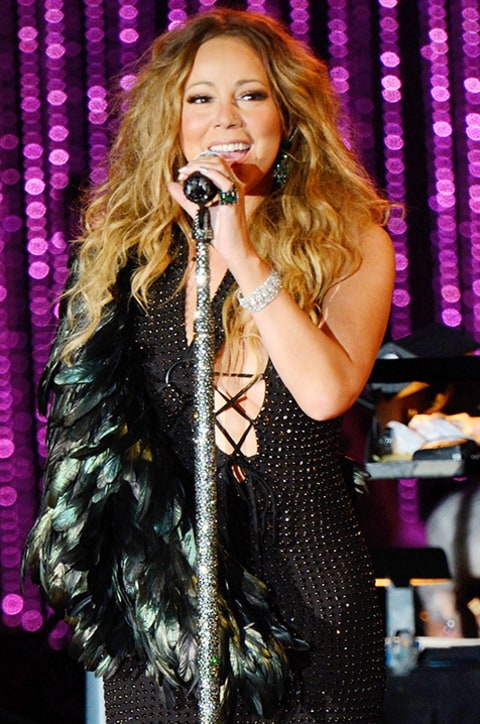 Mariah Carey Feather Sling