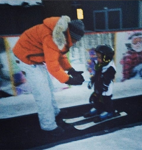 Nick cannon skiing