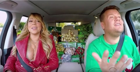 Star-studded Carpool Karaoke of 'All I want for Christmas'