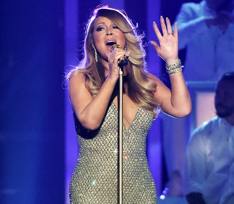Mariah Carey performs during the 2015 Billboard Music Awards