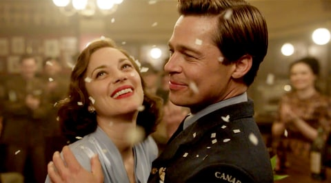 Marion Cotillard and Brad Pitt