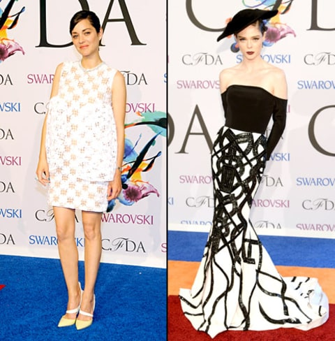 Marion Cotillard and Coco Rocha - CFDA Awards