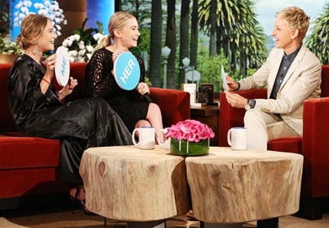 mary-kate and ashley on ellen