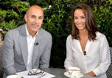 Matt Lauer and Pippa Middleton