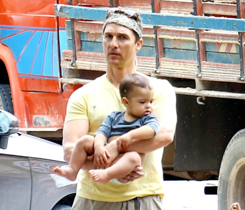 Matthew McConaughey and Livingston