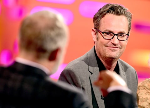 Matthew Perry during filming of the 'Graham Norton Show' at the London Studios, south London, to be aired on BBC One.
