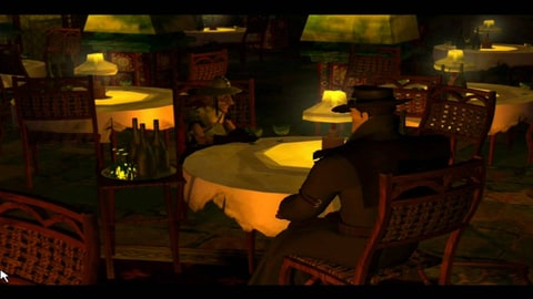 A scene from Discworld Noire