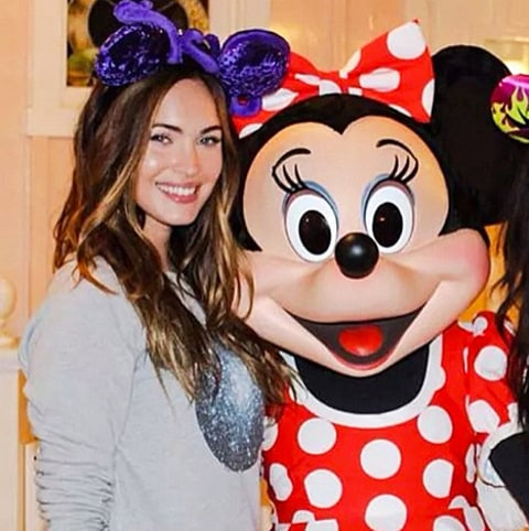 megan fox and minnie mouse