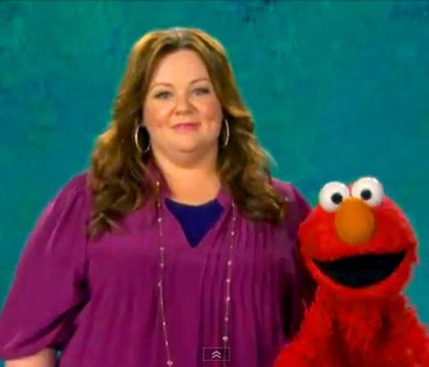 Melissa McCarthy and Elmo