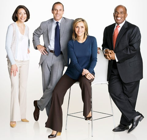 ann curry, matt lauer, meredith vieira and al roker