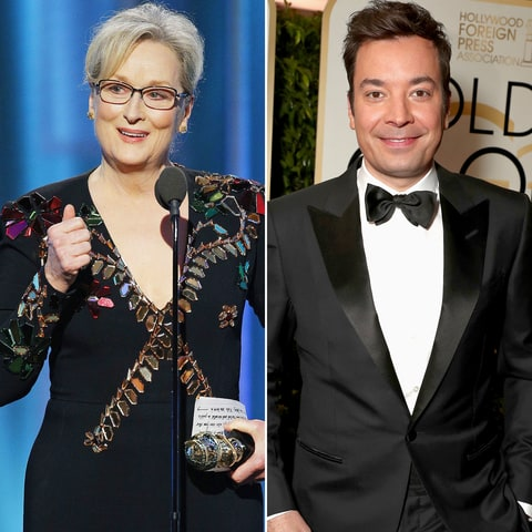 Meryl Streep and Jimmy Fallon