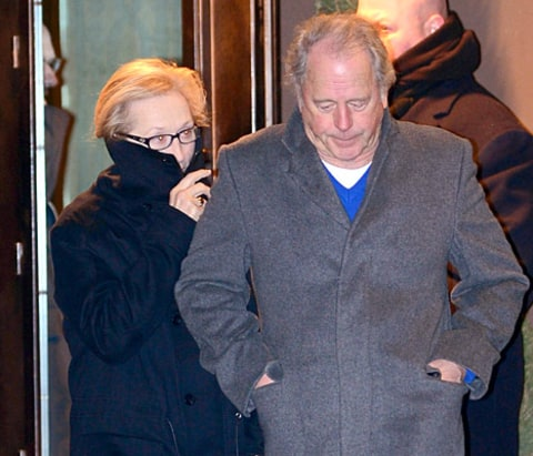 Meryl Streep at Philip Seymour Hoffman Wake