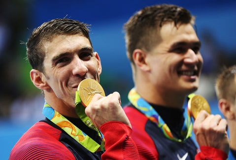 Michael Phelps brings home his first gold medal of the Rio Olympic Games
