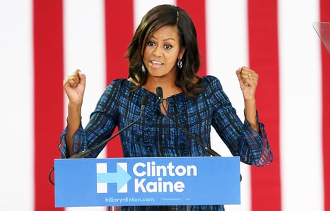 Clinton seeks campaign lift from Sanders, Michelle Obama