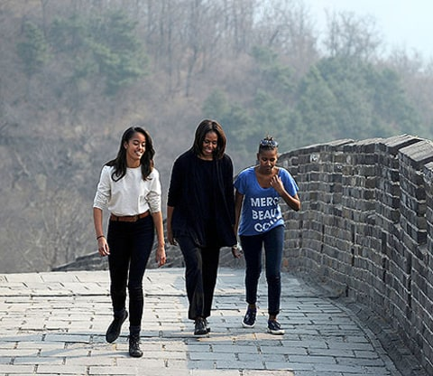 michelle obama great wall
