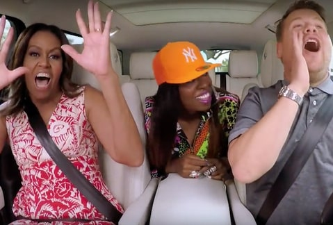 Carpool Karaoke with First Lady Michelle Obama, James Corden