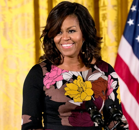 Pleasant Michelle Obama Debuts New Hairstyle Pics Us Weekly Short Hairstyles For Black Women Fulllsitofus