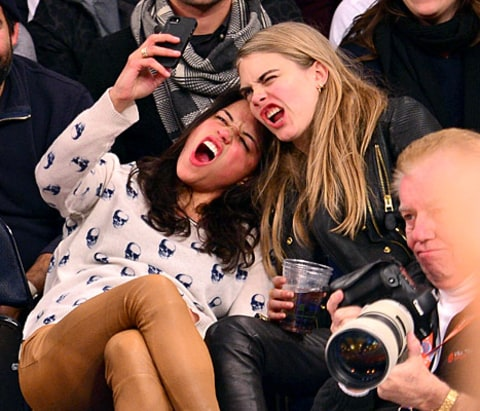 Michelle and Cara - Knicks Game